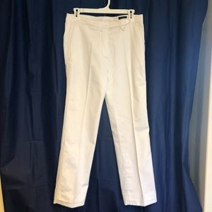 White Burberry Golf Pants